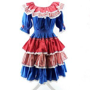 Fancy Fashions Square Dance Dress Red white blue